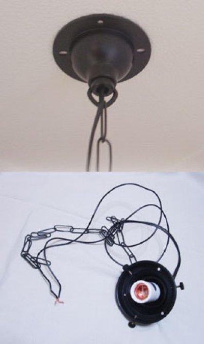 画像2: チェーン吊丸型200ペンダントライト クリア