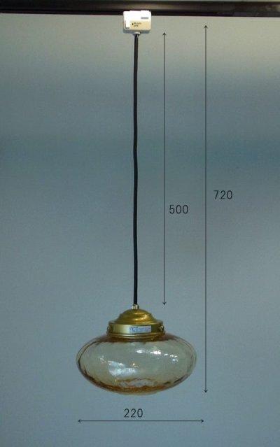 画像1: ミカン型ペンダントライト オパールガラス