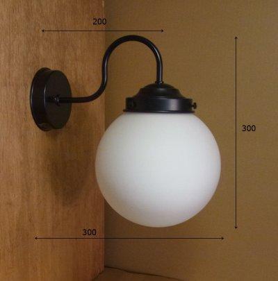 画像1: 丸型ブラケットライト200 クリアヒビ