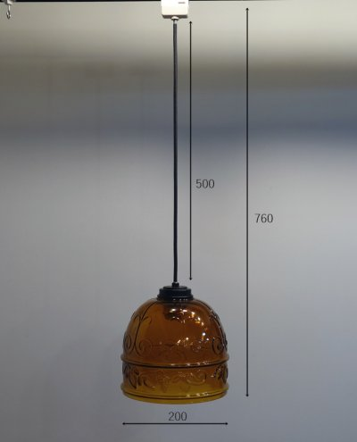 画像1: レトロペンダントライト1001 乳白