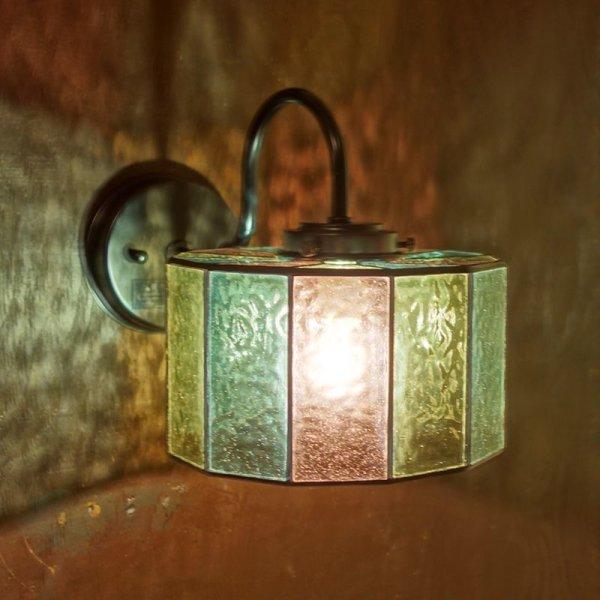 画像1: ステンドグラス アジサイ ブラケットライト (1)