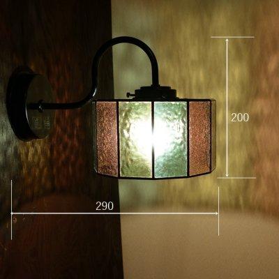 画像1: ステンドグラス アジサイ ブラケットライト