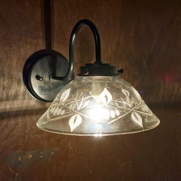 画像1: キャンドル切子A9906型 ブラケットライト クリア (1)