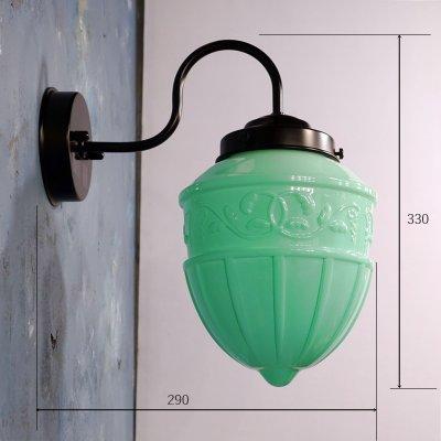 画像2: ブラケットライト レトロ1005 乳白