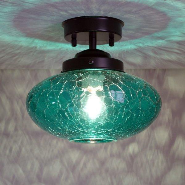 画像1: ミカン型 直付ライト ヒビグリーン (1)
