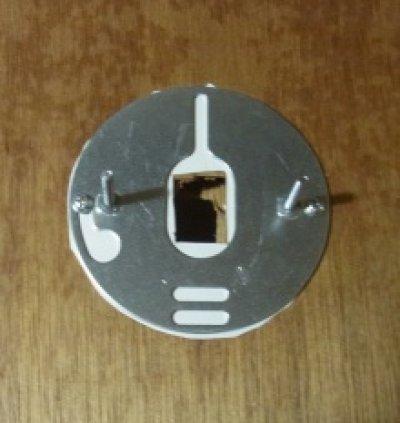 画像2: 丸型ブラケットライト200 アンバーヒビ