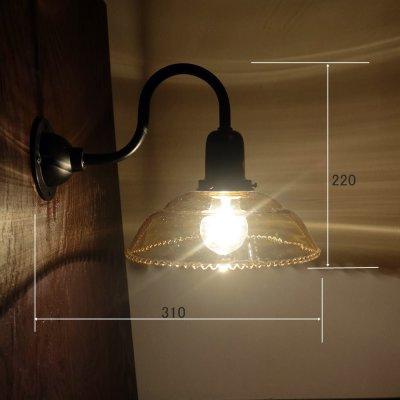 画像1: 9901ブラケットライト 乳白モールK