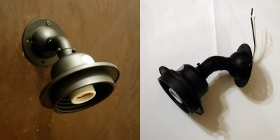画像3: ネジ式丸型ブラケットライト 泡アンバー