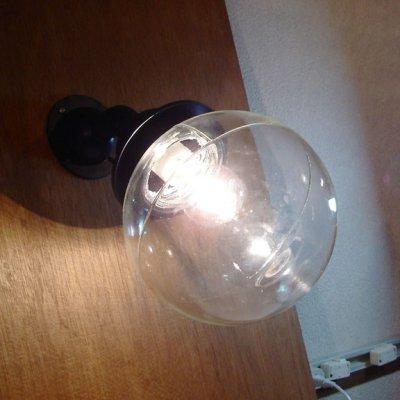 画像1: 屋外可 ネジ式丸型ブラケットライト クリア