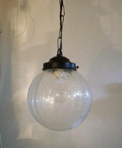 画像3: チェーン吊丸型200ペンダントライト ヒビクリア