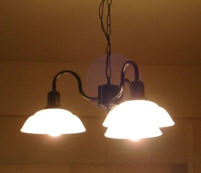 画像2: 3灯シャンデリア9901乳白
